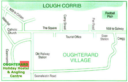 Oughterard Hostel & Angling Centre Directions